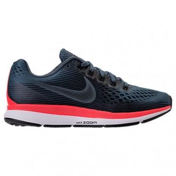 Femmes Nike Air Zoom Pegasus 34 Chaussures Renard bleu / Noir / Brillant cramoisi 880560 403