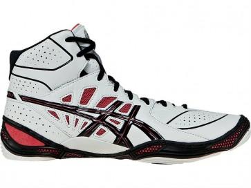 Asics Dan Gable Ultimate 3 - Chaussures de lutte Homme YPLLF - Blanc / Noir / Rouge