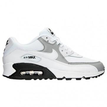 Chaussures de course Nike Air Max 90 Femme Blanc / Wolf Gris / Noir 25213 126