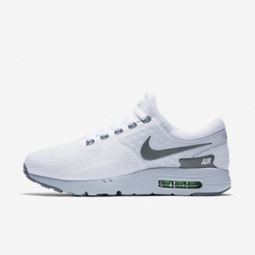 Nike Air Max Zero Essential Hommes Chaussures Blanc / Platine pure / Électro vert / Gris froid 876070-102