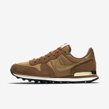 Femme Chaussures Nike Internationalist 828407-204 Ale Marron / Beige doré / Sail / Métallique Doré