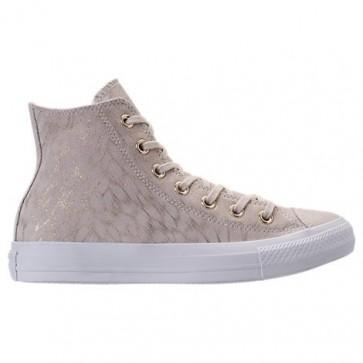 Femme Chaussures Converse Chuck Taylor High Top Shimmer 557937C 107 Buff / Blanc