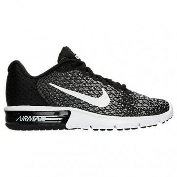 Femmes Nike Air Max Sequent 2 Chaussures Noir / Blanc / Gris foncé / Wolf Gris / Volt 852465 002