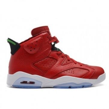 Air Jordan 6 Retro Hommes Chaussures Rouge / Vert / Noir / Blanc 694091-625