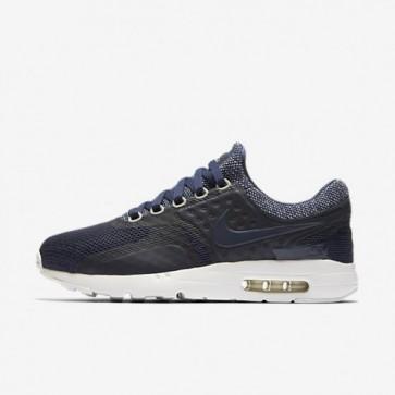 Homme Nike Air Max Zero Breathe Chaussures La marine de minuit, Platine pure, Noir 903892-400