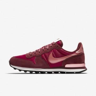 Nike Internationalist Femme Chaussures 828407-611 Rouge foncé / Rouge Noble / Sail / Rouge Stardust
