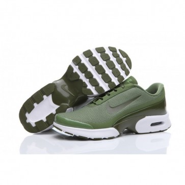 Nike Air Max Jewell Homme Chaussures de course Olive, Blanc