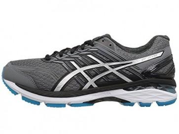 Hommes Asics GT-2000 5 Carbon / Argent / Bleu Chaussures de running