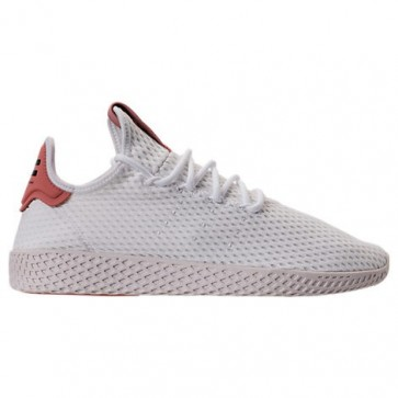 Adidas Originals Pharrell Williams Tennis HU Hommes Chaussures CP9763 Blanc, Rose brut