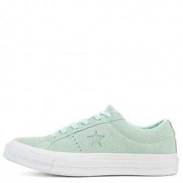 Chaussures de course Converse One Star Suede Ox Femmes Mint Foam / Mint Foam / Blanc