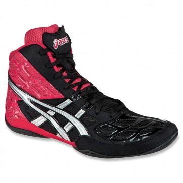 Asics Split Second 9 Femme Chaussures de lutte Rouge / Argent / Noir