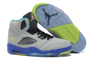 Femme Chaussures Nike Air Jordan 5 Retro Gris froid, Pourpre, Rose