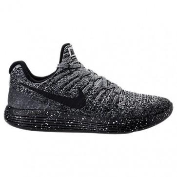 Femme Nike LunarEpic Low Flyknit 2 Chaussures de course Noir, Blanc, Racer Bleu 863780 041