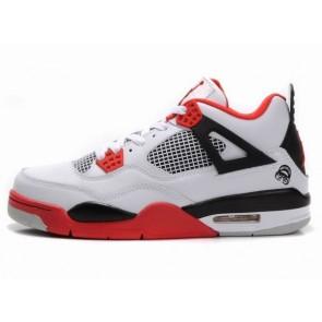 Air Jordan Rare Air Jordans4 (IV) Retro Hommes Chaussures de course Blanc, Rouge, Noir
