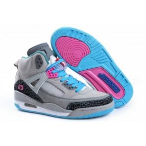 Femmes Air Jordan 3 Chaussures de sport Gris foncé, Gris clair, Bleu ciel
