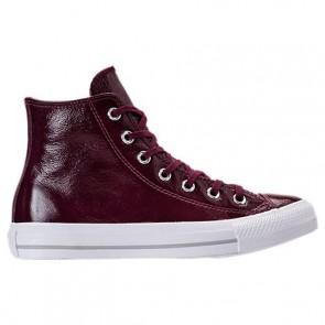 Chaussures Converse Chuck Taylor Hi Patent Femmes 557939C 626 Sangria sombre