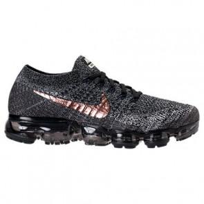Nike Air VaporMax Flyknit Hommes Chaussures de course Noir, Sommet blanc, Bronze rouge 849558 010