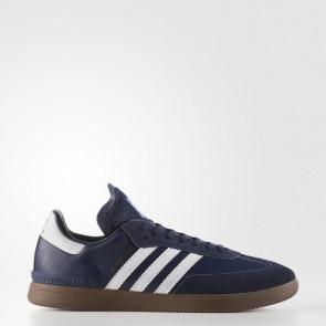 Adidas Originals Samba ADV Hommes Chaussures Marine collégiale, Running Blanc BY3930