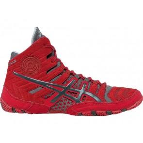 Chaussures de lutte Asics Dan Gable Ultimate 4 Hommes 5WNCP Rouge / Gris
