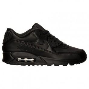 Noir Hommes Nike Air Max 90 Cuir Chaussures de course 302519 001