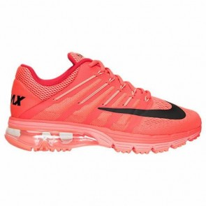 Femme Brillant cramoisi / Noir / Bright Mango Nike Air Max Excellerate 4 Chaussures 806798 666