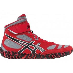 Asics Aggressor 2 Homme - Chaussures de lutte TXX1E Rouge feu, Noir, Graphite