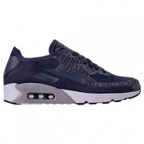 Nike Air Max 90 Ultra 2.0 Flyknit Hommes Chaussures 875943 401 Marine Collège / Wolf Gris