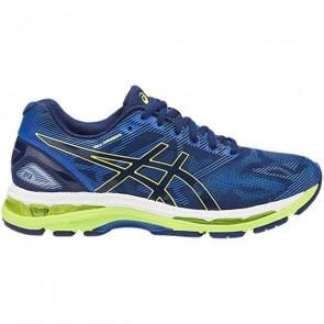 Homme Asics Gel Nimbus 19 - Bleu / Jaune / Bleu Chaussures de course T700N-4907