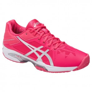 Femmes Asics Gel Solution Speed 3 Chaussures de tennis Rouge Rose / Argent / Blanc