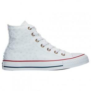 Femmes Converse Chuck Taylor High Top Star 555881C Blanc, Rouge, Insignia Bleu Chaussures
