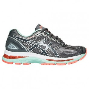 Femme Asics GEL-Nimbus 19 Chaussures de course Carbon / Blanc / Flash Coral T750N 970