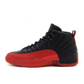 "Air Jordan 12 Retro ""Flu Game"" Noir / Rouge Homme Chaussures"