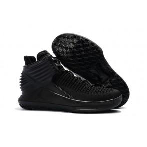 Hommes Air Jordan 32 (XXXII) Triple Noir Chaussure de basketball