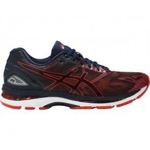 Homme Asics GEL Nimbus 19 Chaussures de course - Peacoat, Rouge Clay, Peacoat