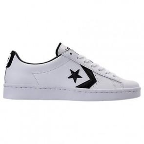 Converse Pro Cuir 76 Ox Hommes Chaussures 157422C Blanc, Noir