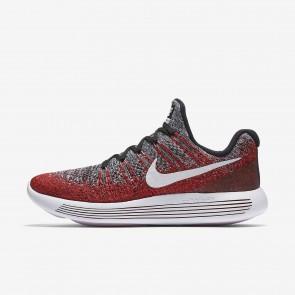 Hommes Nike LunarEpic Low Flyknit 2 Chaussures Université Rouge / Hyper Punch / Noir / Blanc 863779-005