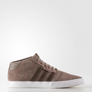 Adidas Homme Originals Seeley Mid Chaussures de course Trace Marron, Marron, Blanc BY4016