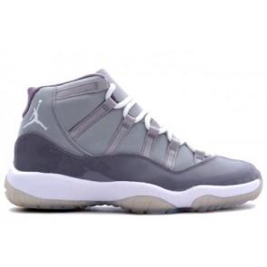 378037-001 Hommes & Femmes Air Jordan Retro 11 (XI) Gris froid, MGris moyen, Blanc Chaussures
