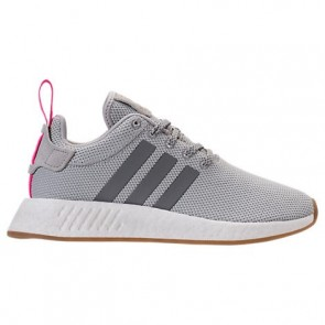 Femmes Adidas NMD R2 Chaussures Gris / Rose choc BY9317