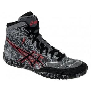 (Noir / Gris / Rouge) Asics Aggressor 2 L.E. Scorpion - Chaussures de lutte Hommes 3ES25