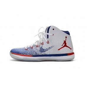 Femmes Nike Air Jordan 31 Chaussure de basketball J31 Beige / Bleu / Rouge