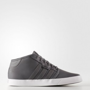 Cinq Gris / Cinq Gris / Blanc Adidas Originals Seeley Mid Homme Chaussures BY4017