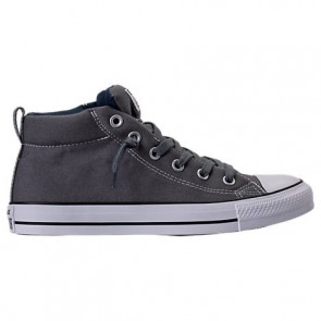 Homme Converse Chuck Taylor All-Star Street Mid Charbon / Blanc Chaussures de course 146174F 082