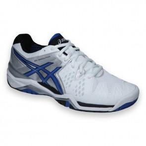 Homme Asics Gel Resolution 6 Chaussures de tennis - Blanc / Bleu / Argent