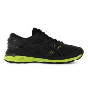 Homme Asics GEL-Kayano 24 Noir / Vert Chaussures de course