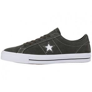 Séquoia / Séquoia / Blanc Converse Skate One Star Pro OX Hommes Chaussures