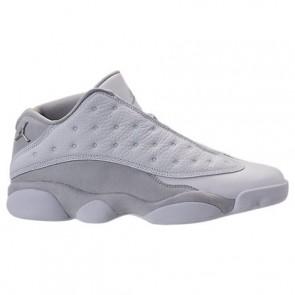 Chaussure de basketball Air Jordan Retro 13 Low Hommes 310810 100 Blanc / Argent métallique / Platine pure