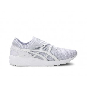 Asics Homme GEL-Kayano Trainer Knit Glacier Gris, Blanc Chaussures