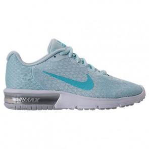 Chaussures de sport Nike Air Max Sequent 2 Femme Platine pure, Bleu polarisé, Glacier 852465 014