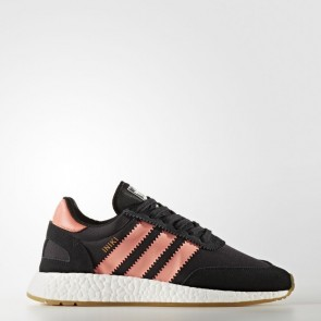 Adidas Originals Iniki Runner Femmes Chaussures Core Noir / Orange semi-flash BY9098